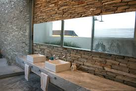 bathroomcaptivating bathroom design with stone tile wall and white ceiling lighting ideas dazzling exposed captivating bathroom lighting ideas