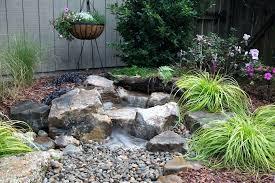 backyard waterfall landscape fountain kit small designs pool