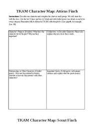 To Kill A Mockingbird Character Analysis Chart To Kill A Mockingbird Character Maps Characterization Grade 8 9 10 Reading Strat