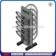 Bicycle Wheel Display Stand Tsdm100 Custom Double Sided Floor Standing Metal Bicycle Wheel 2