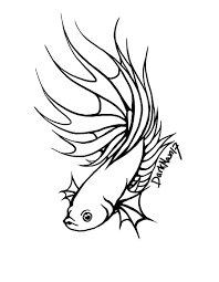 Small Picture Betta Fish Coloring Page Good Clown Fish Coloring Ocean Animal