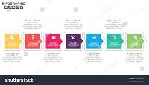 Design Eras Timeline Timeline Infographic Chart Many Color Vector Stock Vector