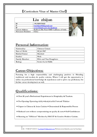Sous Chef Responsibilities Resume Resume For Your Job Application
