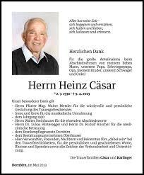 Heinz Cäsar Todesanzeige Vn Todesanzeigen