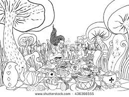 Small Picture Tea Party Coloring Page Download Free Vector Art Stock Graphics