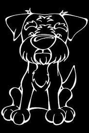 Border Terrier Decal Dog Kaatje Kleurplaten Silhouet En Ramen