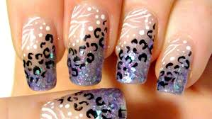 45+ Most Stylish Purple Leopard Print Nail Art Design