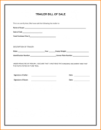 free bill of sale form for car trailer bill of sale florida free download