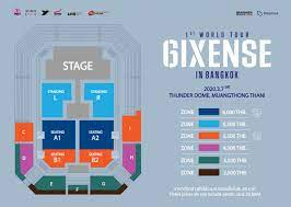 "Official Ticket   AB6IX 1st World Tour ""6IXENSE"" IN BANGKOK"
