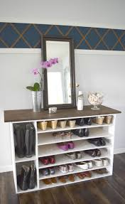 lofty diy shoe shelf stylish d i y rack perfect for any room idea plan closet bench storage