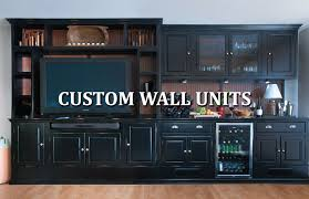 custom wall units unfinished business