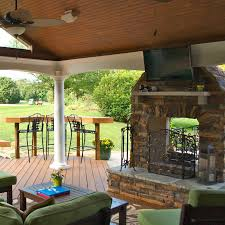 sunroom with fireplace. outdoor fireplace sunroom with o