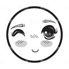 シンボル キャラクターかわいい式女性顔 アバターのベクターアート素材