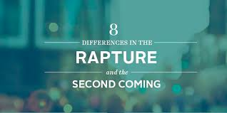 Rapture Vs Second Coming Chart 8 Differences In The Rapture And The Second Coming John