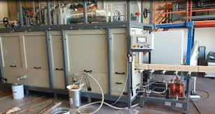 Flow Coater For The Impregnation Of Beams Doors Windows And Wooden