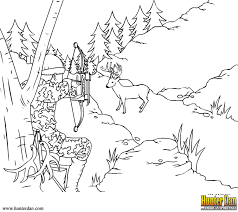 Small Picture Coloring Page Hunting Pages Printable For Boys Animals Kids