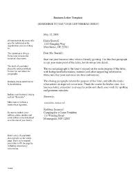 English Letter Template