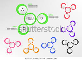 Fidget Spinner Chart Abstract Infographics Business Presentation Colorful