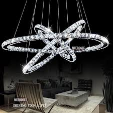 pendant led lighting fixtures. Hot Selling 3 Diamond Ring Crystal Light Fixture, Led Pendant Suspension Lumiere Modern Lighting Circles Lamp Ce\u0026Rohs Outdoor Chandelier Dining Fixtures