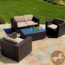 elegant 4 piece wicker patio set house design photos christopher knight home murano pe wicker outdoor 4 piece sofa set