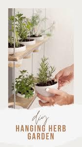 diy hanging herb garden tutorial