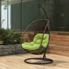 Cozy swing chairs garden ideas Patio Furniture Calabah Swing Chair brown Urban Ladder Balcony Tables Garden Outdoor Furniture Balcony Furniture