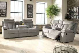 ashley furniture mitchiner reclining living room set in fog
