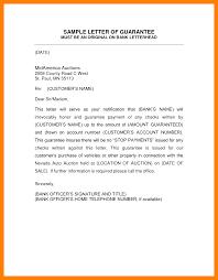6 Guarantor Letter Format Formatting Letter