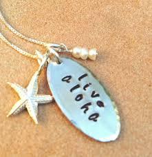 live aloha necklace hawaiian necklace aloha necklace aloha hawaiian gifts personalized gifts natashaaloha