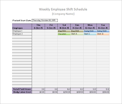 Work Schedule Spreadsheet Template Work Schedule Templates 8 Free Word Excel Pdf Format