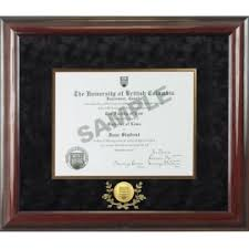 graduation diploma frame ubc wood degree frame w black velvet matting