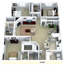 apartment floor plans 3 bedroom flat plan design for
