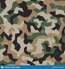 Army Camo Design Geometric Camouflage Seamless Pattern Abstract Trendy Army