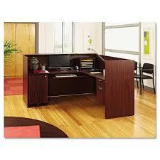 Office furniture reception desk counter Contemporary Reception Amazoncom Alera Valencia Series Reception Desk Wcounter 71w 3512d 4212h Mahogany Amazoncom Amazoncom Alera Valencia Series Reception Desk Wcounter 71w