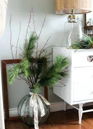 oversized round vase with evergreens and a ribbon bow glass tall martini floor vases decor ideas