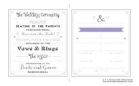 wedding party program templates wedding ceremony program template