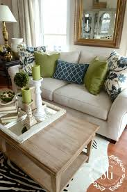 HOW TO BUILD A PILLOW COLLECTION LIKE A PRO. Brown And Green Living  RoomLiving Room Decor GreenBlue ...