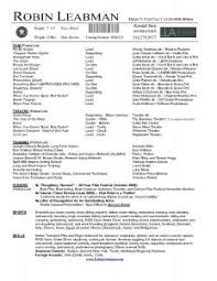 Professional Theatre Resumes Ideas Collection Professional Theatre Resume For Free Fair Musical