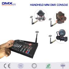 dhl free handheld mini 54ch wireless dmx console for home ktv dj stage light can