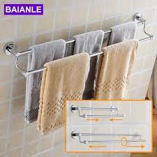 hanging towel. Beautiful Hanging BAIANLE Bathroom Telescopic Towel Bars Stainless Steel Bath Wall Shelf Rack Hanging  Hangers Contemporary Style Intended