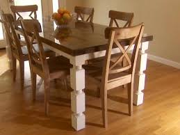 how to build a dining table from an old door and posts