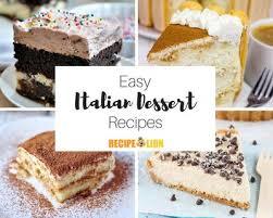 24 Easy Italian Desserts Recipelioncom