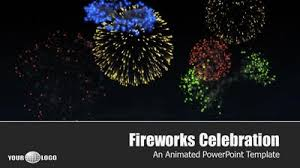 Fireworks Celebration - A Powerpoint Template From Presentermedia.com