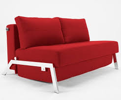 sofa bed in basic red modern sleeper sofas new york by modern