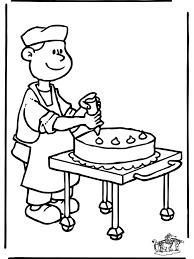 Bakker 4 Kleurplaat De Bakker