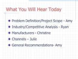 Final Consulting Report. What You Will Hear Today Problem Definition ...