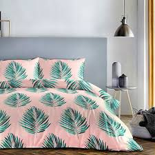 fusion palm leaves tropical pink