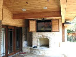 outdoor tv cabinet plans building plan wall outside diy