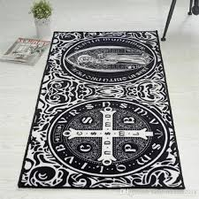 oriental vintage area rugs black white luxury patterns rectangular carpet non slip washable durable area rug for living room high end carpet brands carpet