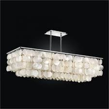 awesome capiz chandelier for dining room design with capiz shell rectangular chandelier and rectangular shade pendant